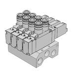 Van điện từ dạng khối F18M ( F18 series monoblock manifold A type (direct piping type) Koganei, Koganei Vietnam